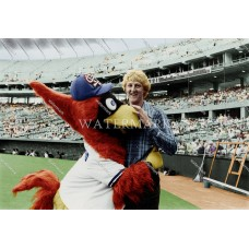 EF387 LARRY BIRD College Basketball Player of Year Busch Stadium Colorized Photo