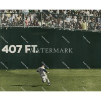 EF643 Mickey Mantle New York Yankees Goes After Ball Colorized Photo